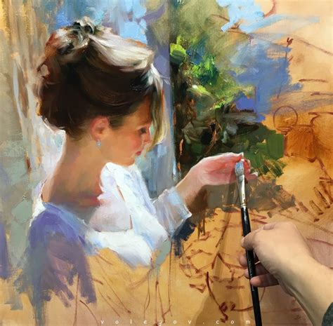 A Painting by Vladimir Volegov Painting Artpeople Net