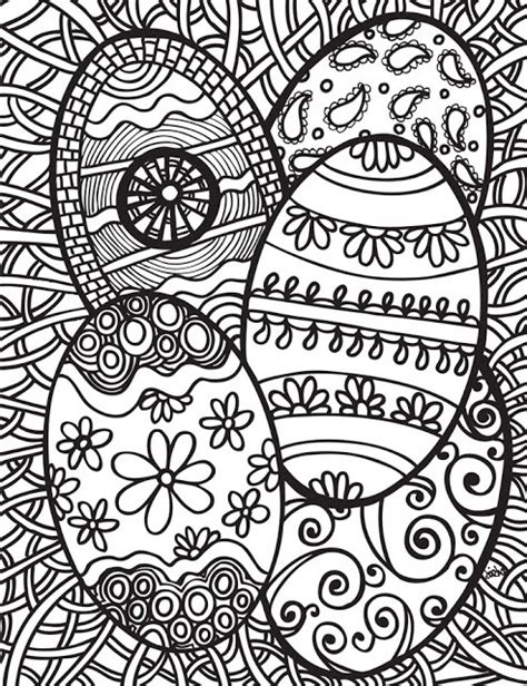 Abstract Easter Coloring Pages | abstract doodles free easter printables kids coloring