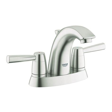 grohe arden 4 in centerset 2 handle bathroom faucet in
