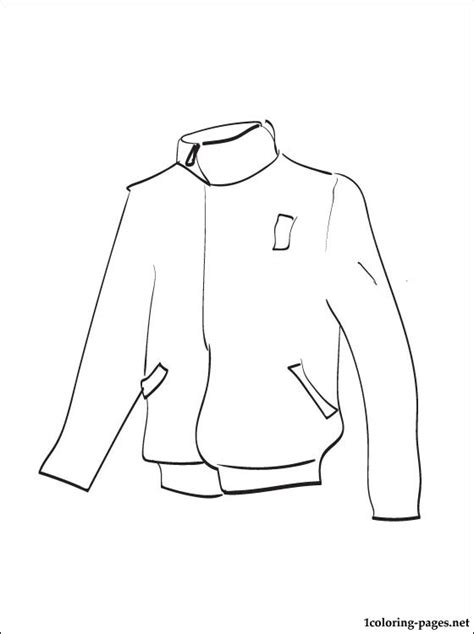 printable coloring page of a jacket jacket coloring page to print out coloring pages