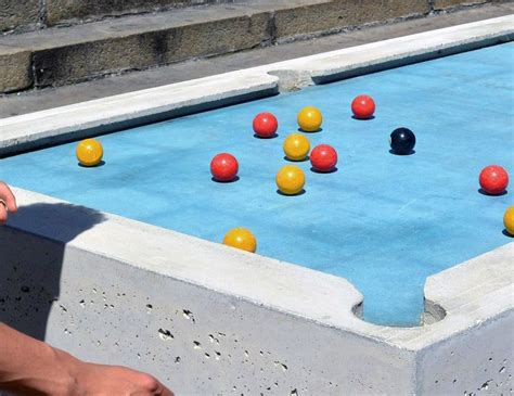 backyard pool table concrete outdoor pool tables public pool table