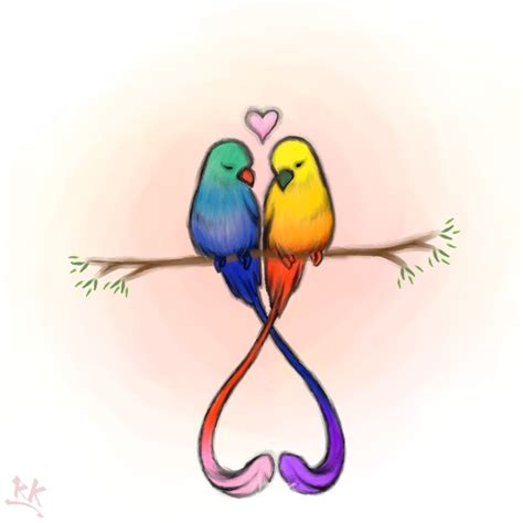 love birds drawing pic clipart best