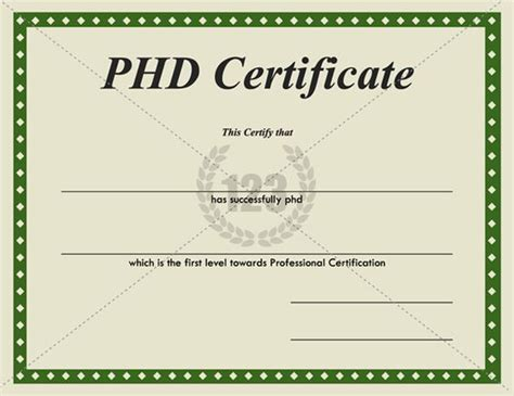 Phd Template Templates And Certificate Templates On Pinterest