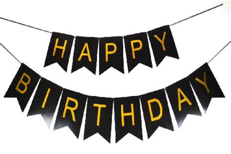 Banner Happy Birthday Black White mermaid birthday cupcake wallpaper