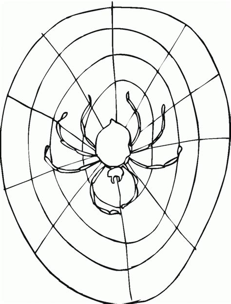 Free Spiders Web Coloring Pages Spider Web Color Template