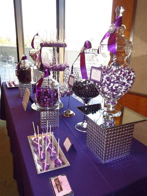 Elegant Purple Candy Table by OC Sugar Mama   Purple Candy