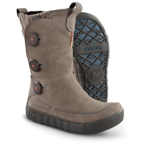 s merrell 174 tempest high boots brindle 202849