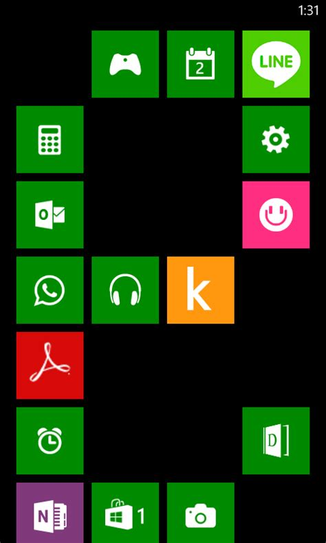 nokia lumia 520 home screen tile designs