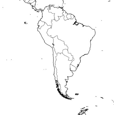 South And America Map Outline by South America Blank Political Map