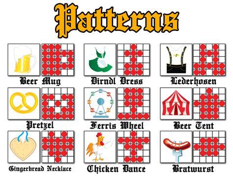bingo pattern exles cyberbingo crazy oktoberfest bingo