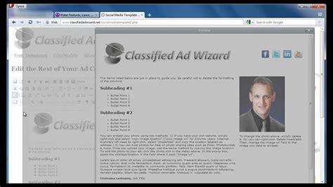 craigslist html template craigslist ad html generator social media template
