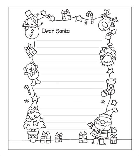 santa letter template free printable letter from santa word template best 1608