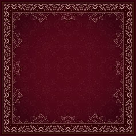 vintage gold lace seamless border on dark red
