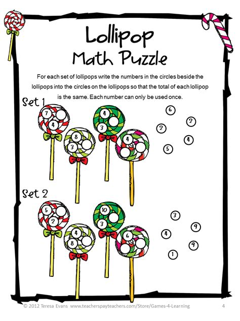 printable math puzzle games fun games 4 learning december 2013