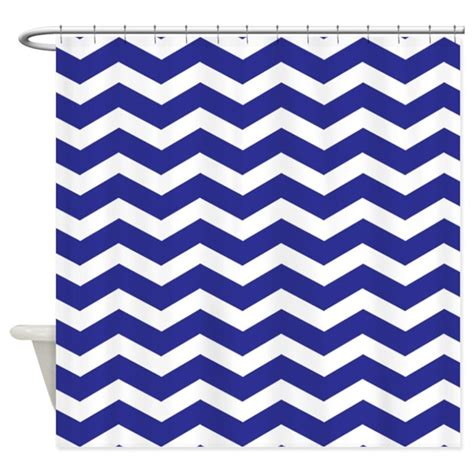 chevron curtains navy navy blue chevron shower curtain by inspirationzstore