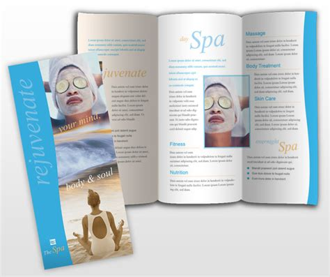 spa beauty services business brochure templates