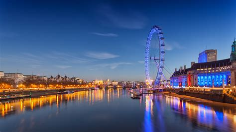wallpaper 4k london nature lake sunset landscape london eye twalight night
