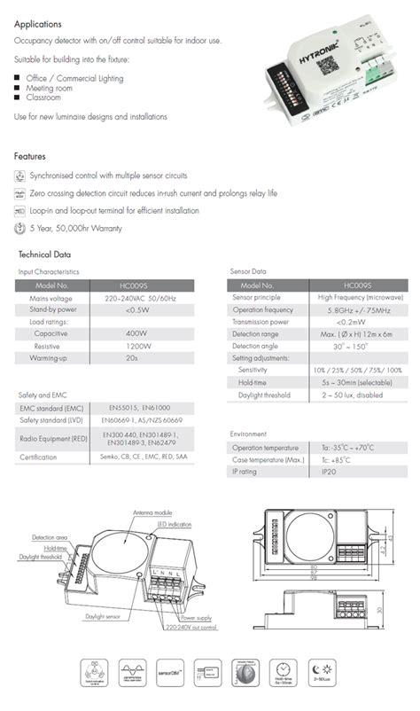 hc009s on sensorhytronik