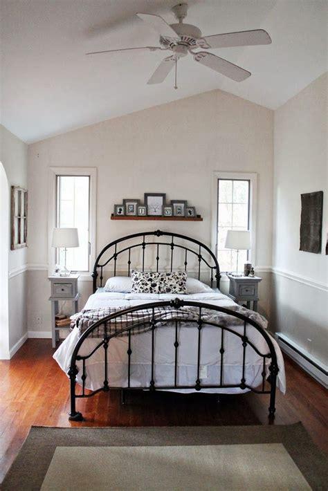 black gray  tan bedroom tan bedroom iron bed