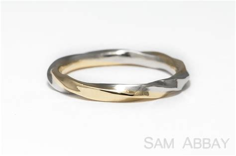 twisted bands new york wedding ring