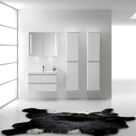 Bathroom Wall Hung Vanity Units Luxurious High Gloss White Vanity Unit