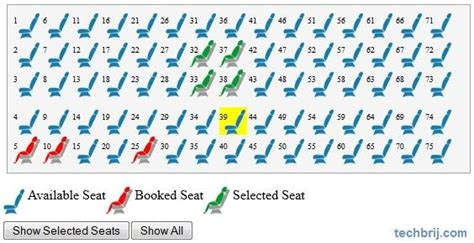 volvo seat availability seat reservation with jquery techbrij