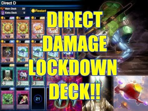 Lockdown Deck by Yu Gi Oh Duel Links Direct Damage Lockdown Deck
