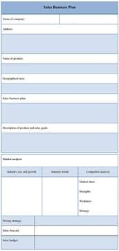 Sample Sales Business Plan Template Plan Template For Sales Business Sample Of Sales Business