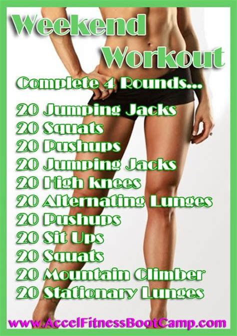 weekend workout get you ripped