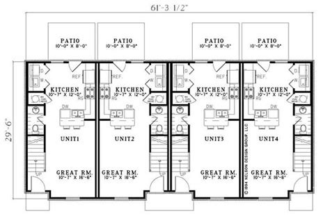 multi unit home plans multi unit house plans home design ndg 841 9220