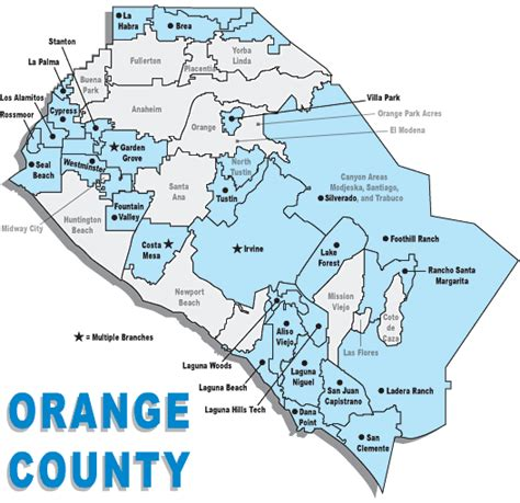 map of orange county image gallery orange county cities