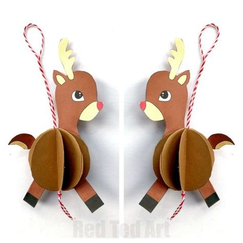 How To Make A Paper Reindeer - paper reindeer ornament ted s