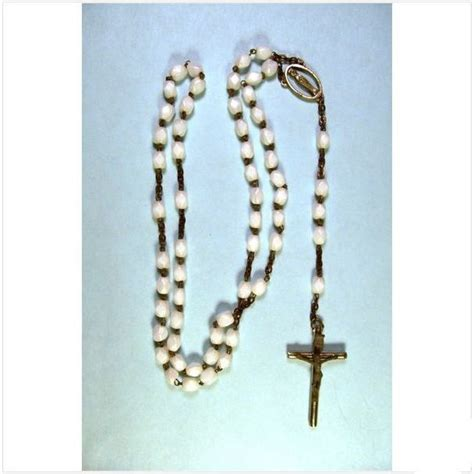rosary bead cases rosary with white in brocade vintage on ebid