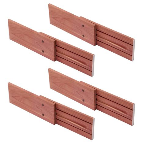 Divider Drawer by Woodlore 83502 Cedar Drawer Dividers Set Of 4 Atg Stores