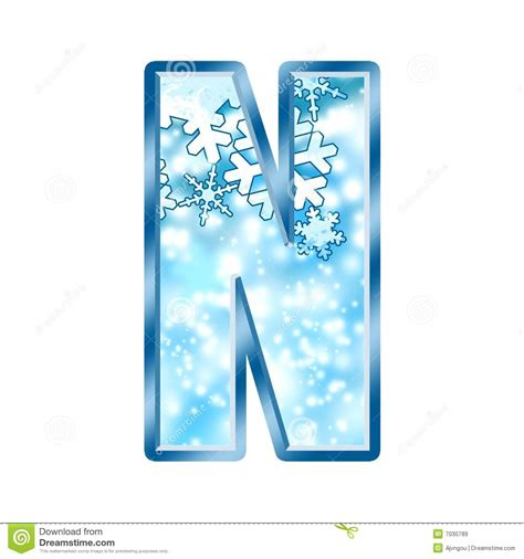 up letter to winter winter alphabet letter n royalty free stock images image
