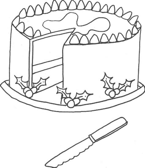 christmas cake coloring page christmas cake free colouring pages
