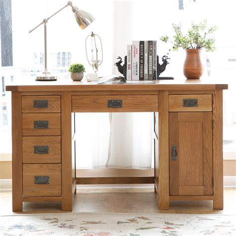 solid wood white desk image gallery oak wood desk