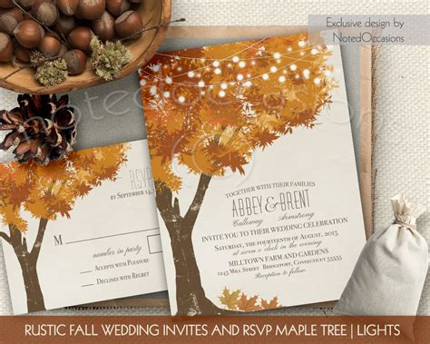 rustic printable wedding invitation kits rustic fall wedding invitations kit autumn oak by