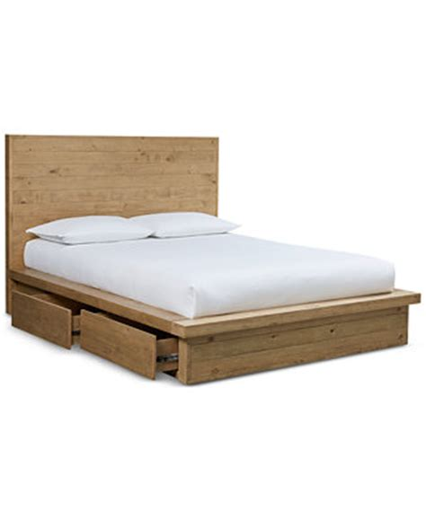 abilene solid pine storage king bed furniture macy s