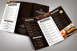 Modern Menu Template by Restaurant Menu Modern Brochure Templates On Creative Market