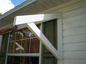 How To Build A Window Awning Yawning Over Your Awning Diy Awnings On The Cheap Home