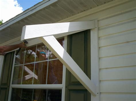 how to build a wood awning over a deck yawning over your awning diy awnings on the cheap home