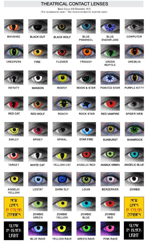 Spooky Trend Colored Contacts by Contact Lenses Contact Lenses For
