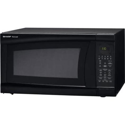 2 0 Countertop Microwave by Sharp 2 0 Cu Ft Countertop Microwave In Black With