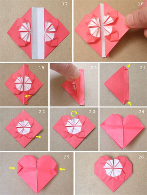 How To Fold Paper Hearts Step By Step - sweet origami hearts bloomize