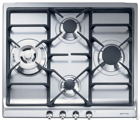 24 In Gas Cooktop - smeg sr60ghu3 24 inch gas cooktop with 4 sealed burners