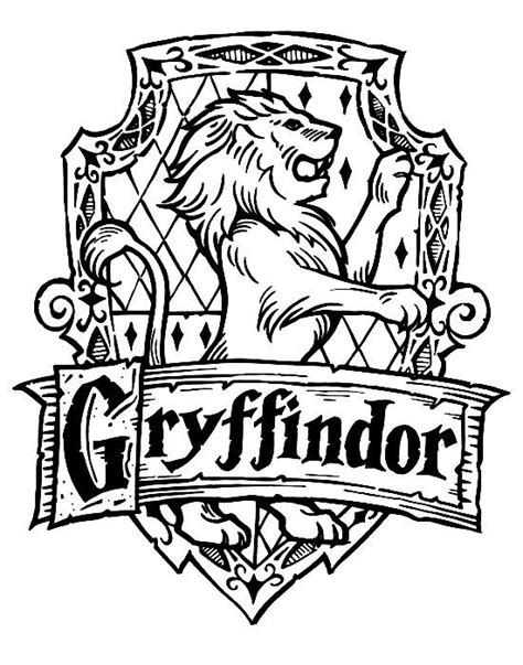Harry Potter Coloring Pages Gryffindor | harry potter hogwarts gryffindor crest diy harry potter