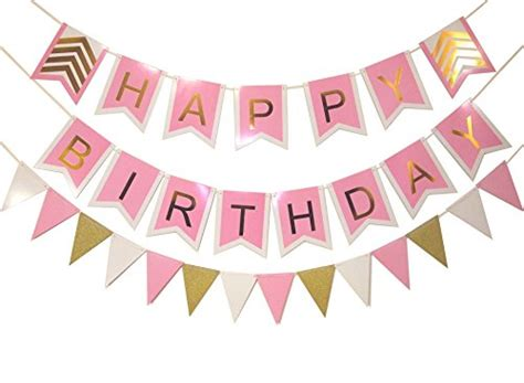 Bunting Flag Happy Birthday Banner Hbd Karakter Captain America keira prince happy birthday banner set pink with white trim gold letters stylish gold