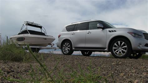 tow test 2012 infiniti qx56 takes a boat for 0 60 mph