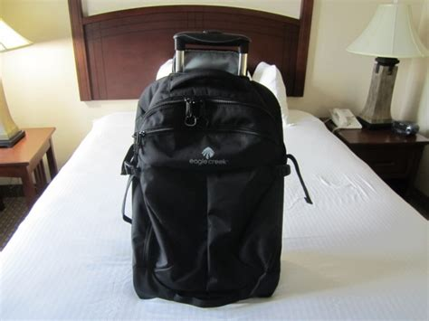 gear review eagle creek activate wheeled backpack 21